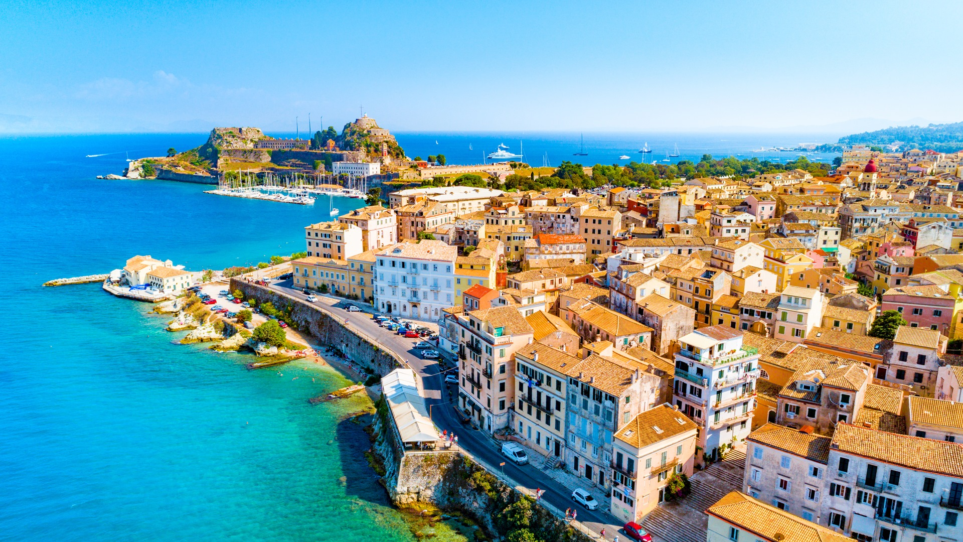 Explore the town of Corfu