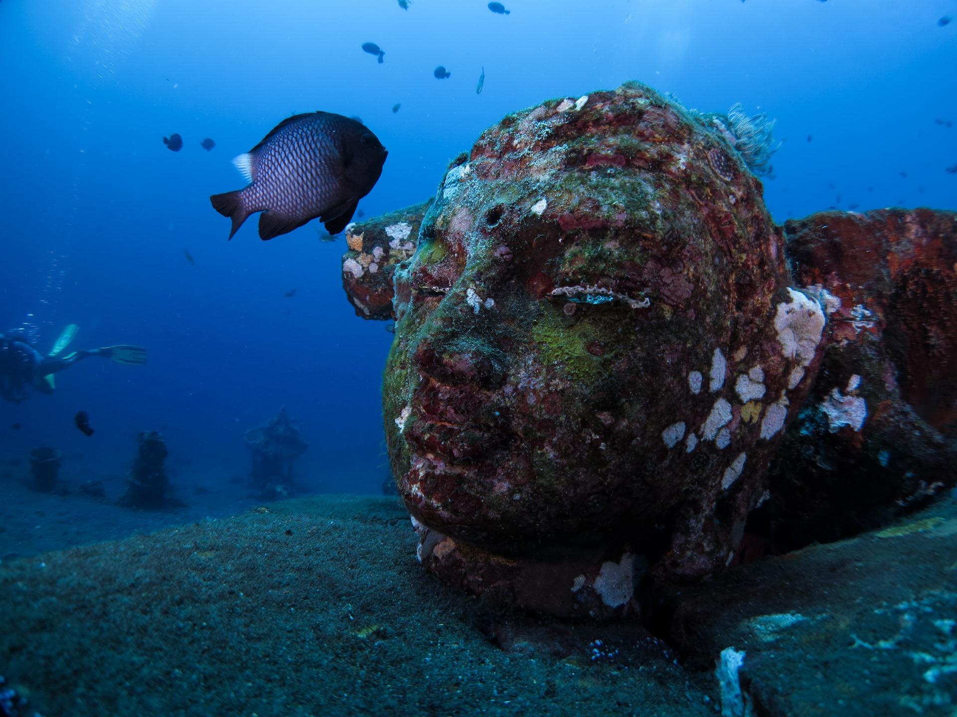 Amazing underwater sculptures in Bali