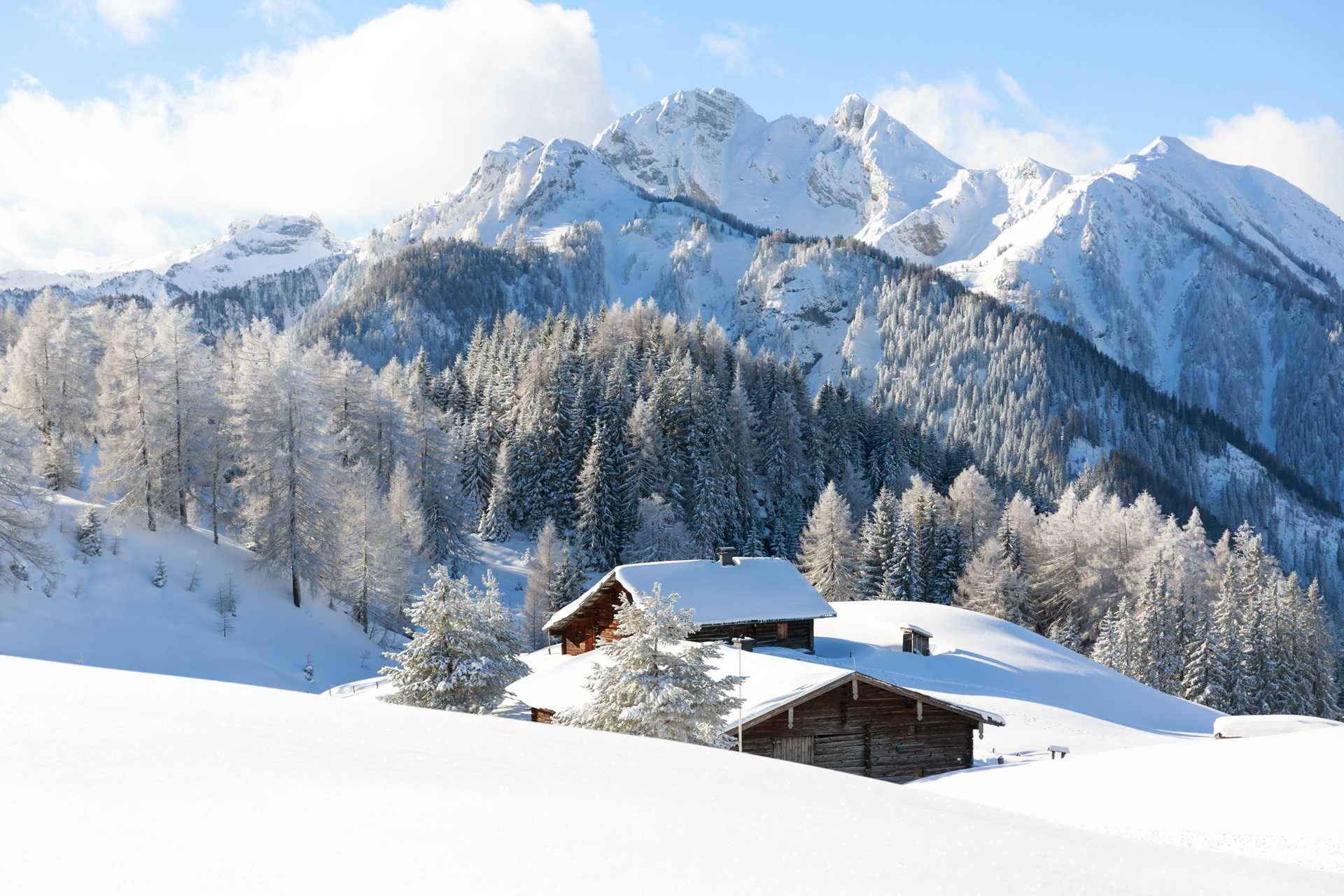 chalet in the Alps